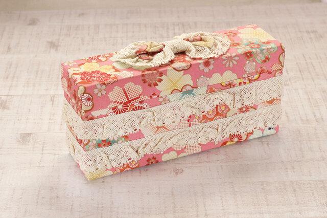 リボンのクラッチボックス(ピンク)の画像1枚目