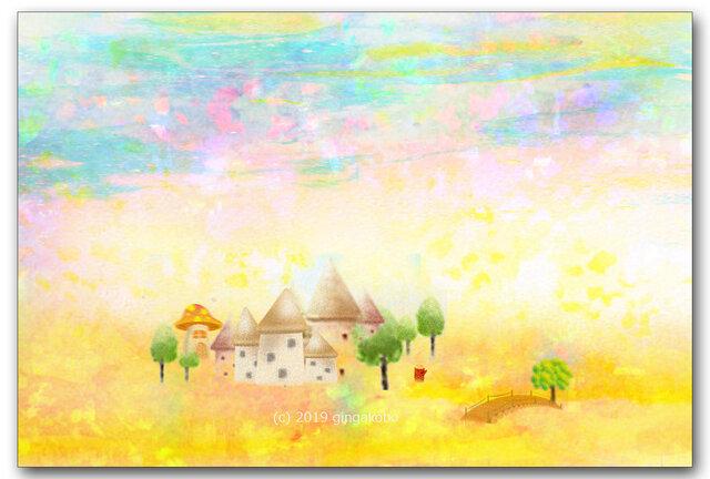 「春の刻」 ほっこり癒しのイラストポストカード2枚組No.746の画像1枚目