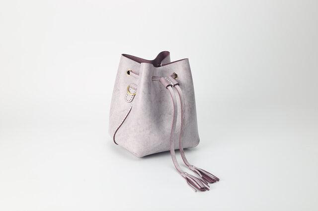 【切線派】本革手縫いバケットショルダーバッグ の画像1枚目