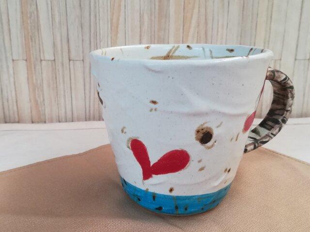 ハート柄マグカップの画像1枚目