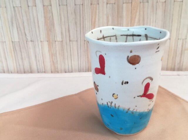 ハート柄フリーカップの画像1枚目