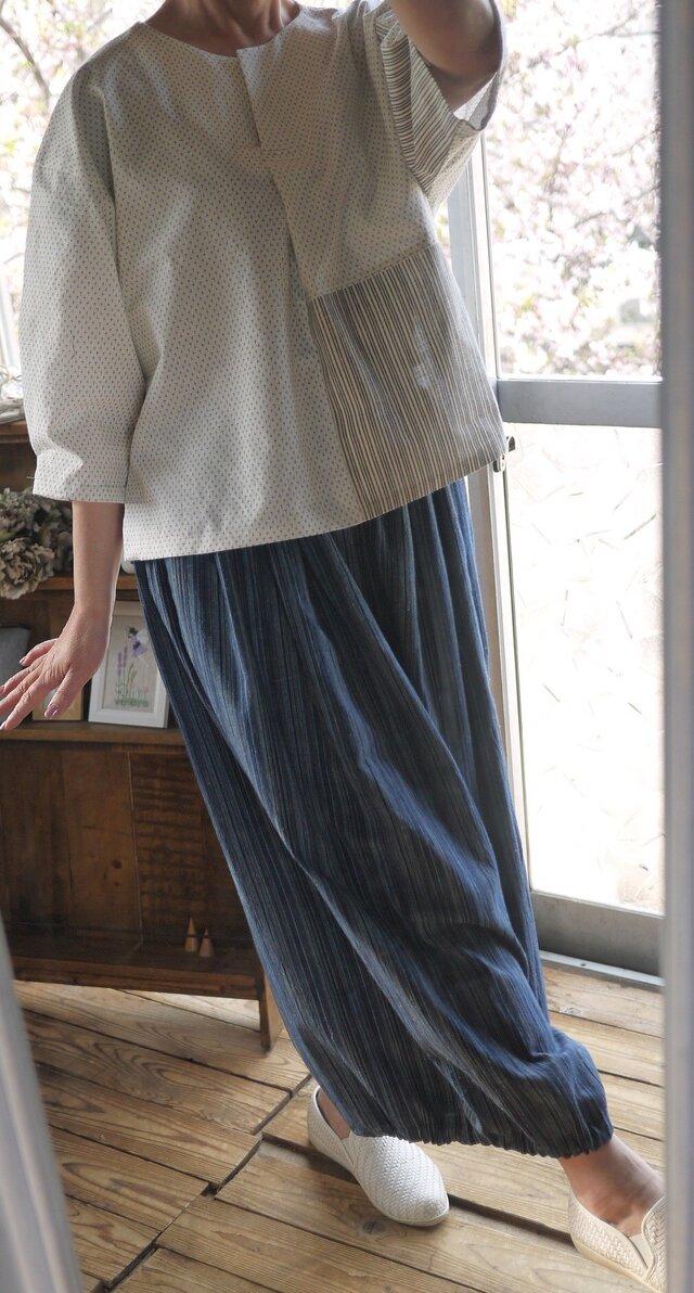 浴衣と遠州織からトップスの画像1枚目