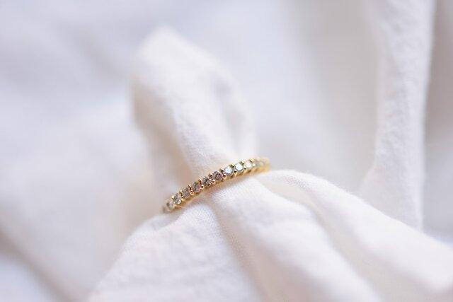 [18K]三日月のリング~ダイヤモンドエタニティ~の画像1枚目