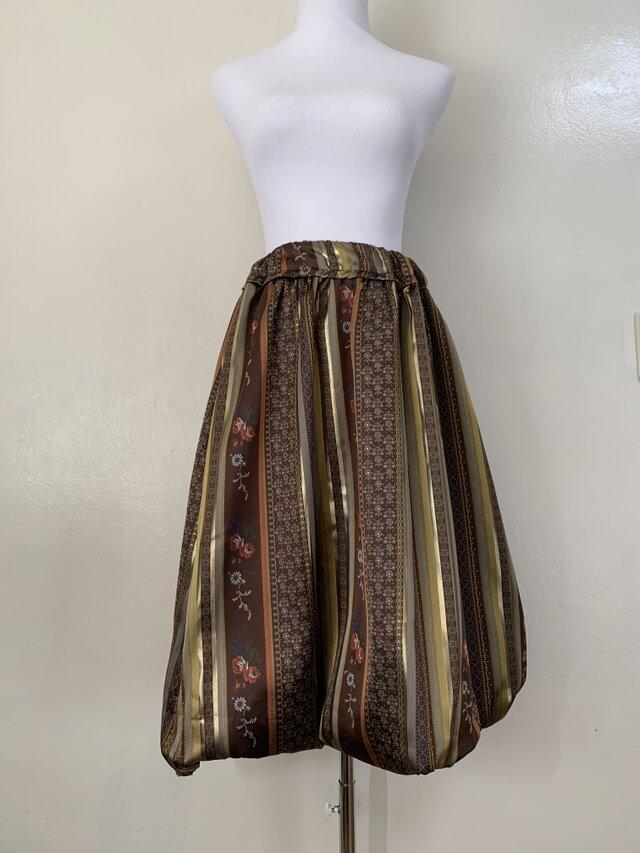 HAJIME AYUMU 柄付きジャガード 幅広ゴムスカート カジュアル オーダーS〜LLサイズの画像1枚目