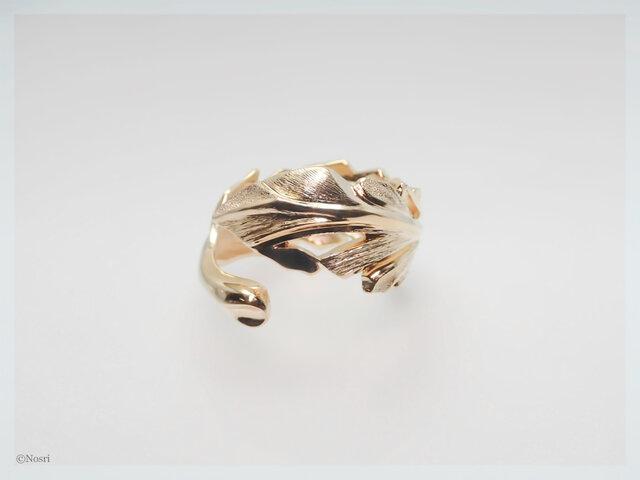 キュリアス フェザー リング   ゴールド&ロジウム(Curious Ring)の画像1枚目