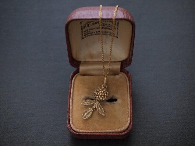 タティングレース 14kgf  gold flower ネックレス 受注制作の画像1枚目