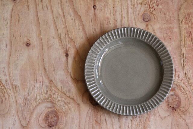 しのぎ大皿グレージュの画像1枚目