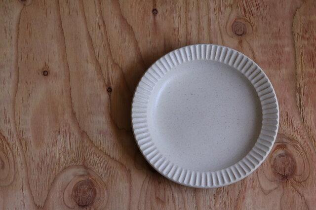 しのぎ大皿 白の画像1枚目