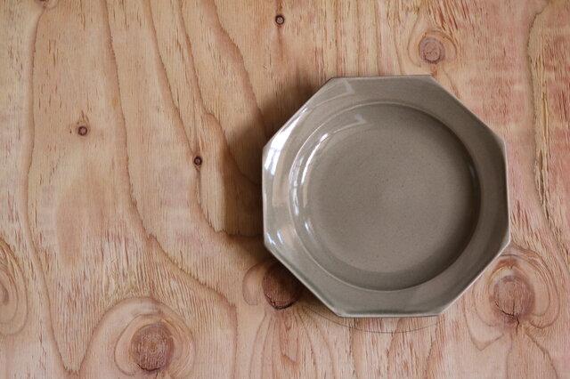 八角大皿 グレージュの画像1枚目
