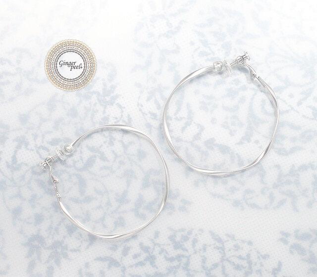 イヤリング[Queen size hoop/Silver]の画像1枚目