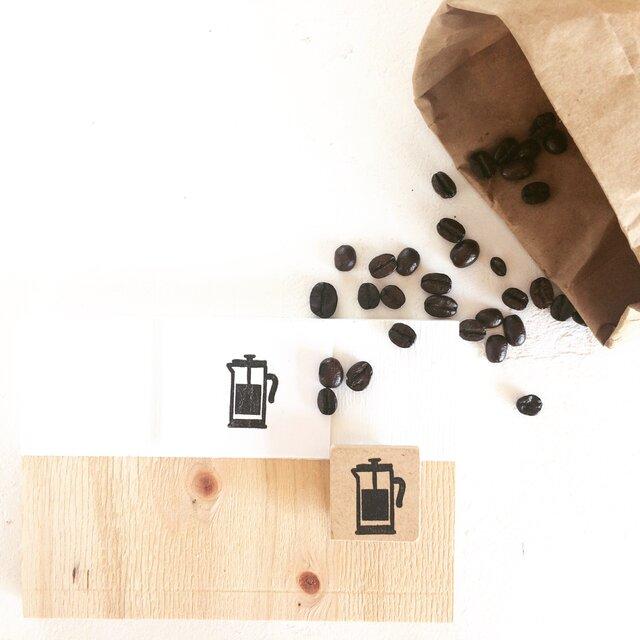 coffeeのアイコンはんこ『コーヒープレス』の画像1枚目