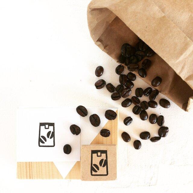 coffeeのアイコンはんこ『コーヒー豆(袋)』の画像1枚目