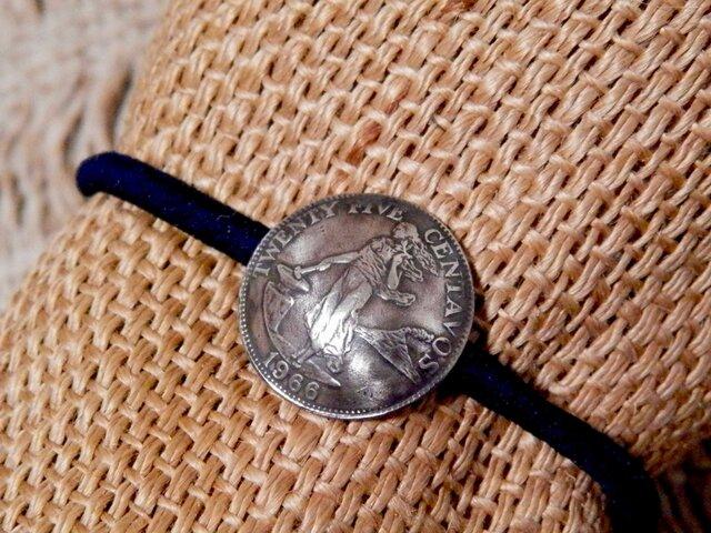 #H78 Philippines Coin Hair Elasticの画像1枚目