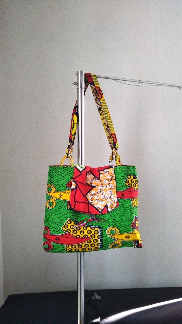 アフリカの布でバッグの画像1枚目