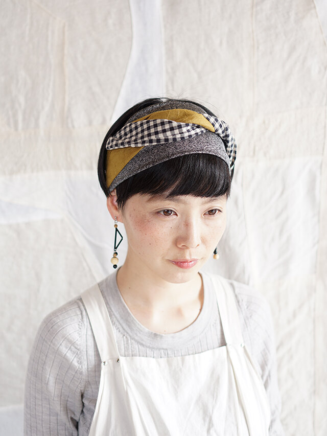 patchwork turban (cotton×linen mix 19ss-c)の画像1枚目