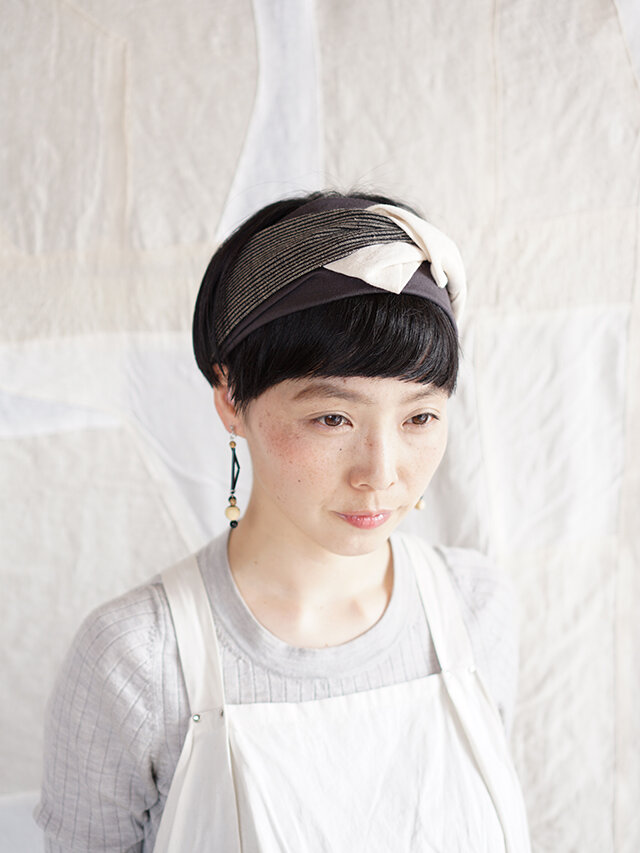 patchwork turban (cotton×linen mix 19ss-f)の画像1枚目