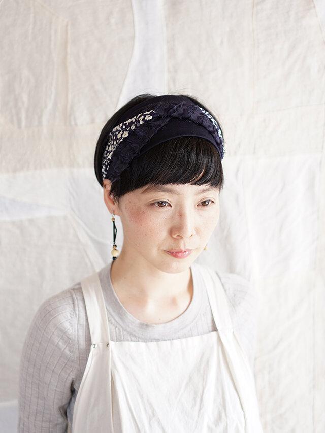 patchwork turban (cotton×linen mix 19ss-i)の画像1枚目