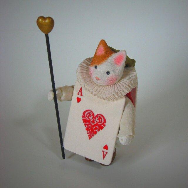 縮緬福猫 ハートのAの画像1枚目