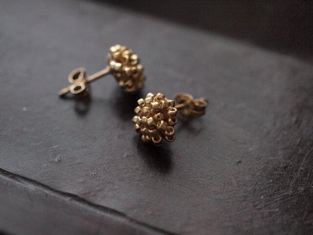タティングレース 14kgf  confeito(コンフェイト)  gold colour  受注制作の画像1枚目