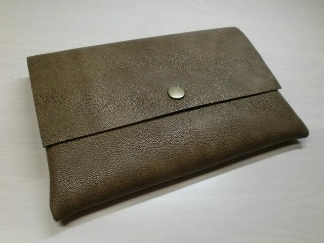 A6サイズ、母子手帳対応・ゴートスキン・一枚革のマルチケース・カードポケット付き・0143の画像1枚目