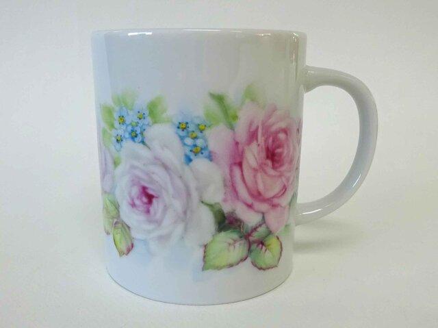 花のマグカップF(手描き)の画像1枚目