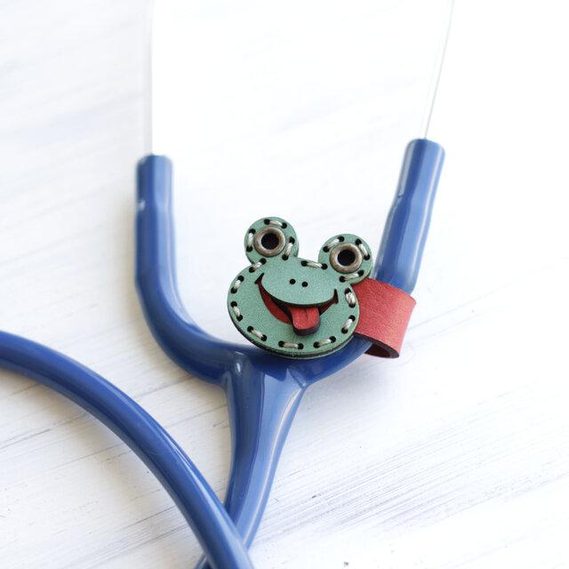 聴診器 ネームタグ(SMILE カエル)の画像1枚目