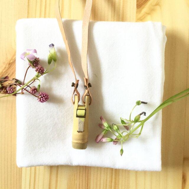 【素竹アクセサリー】 StTICK    Bamboo × combi Belt イエロー×アイボリーの画像1枚目
