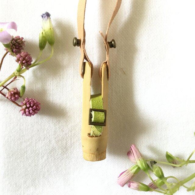 【素竹アクセサリー】StTICK    Bamboo × combi Belt グリーン×イエローの画像1枚目