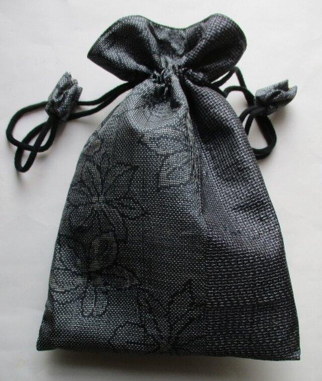 送料無料 大島紬で作った巾着袋 4217の画像1枚目