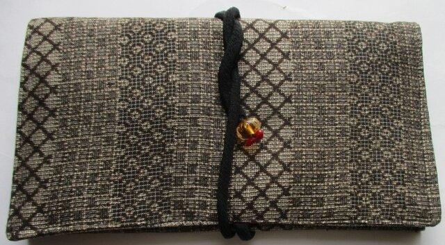 送料無料 大島紬で作った和風財布・ポーチ 4218の画像1枚目