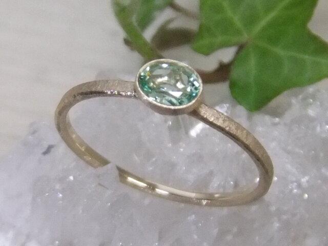 グリーンべリル*K14lunapinkgold ringの画像1枚目