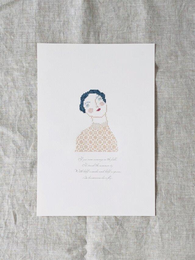 """刺繍と詩 Portrait """"Adele""""の画像1枚目"""
