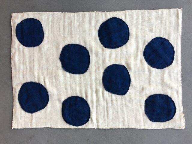 藍染模様B バスマット オーガニックコットン6重ガーゼの画像1枚目
