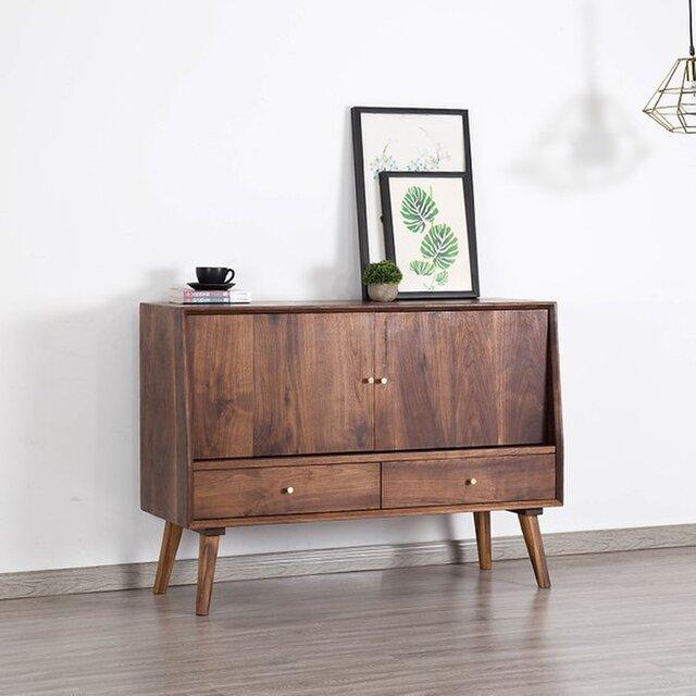 受注生産 職人手づくり キャビネット 収納棚 本棚 シェルフ サイドボード クラシック 北欧家具 サイズオーダー可 家具の画像1枚目