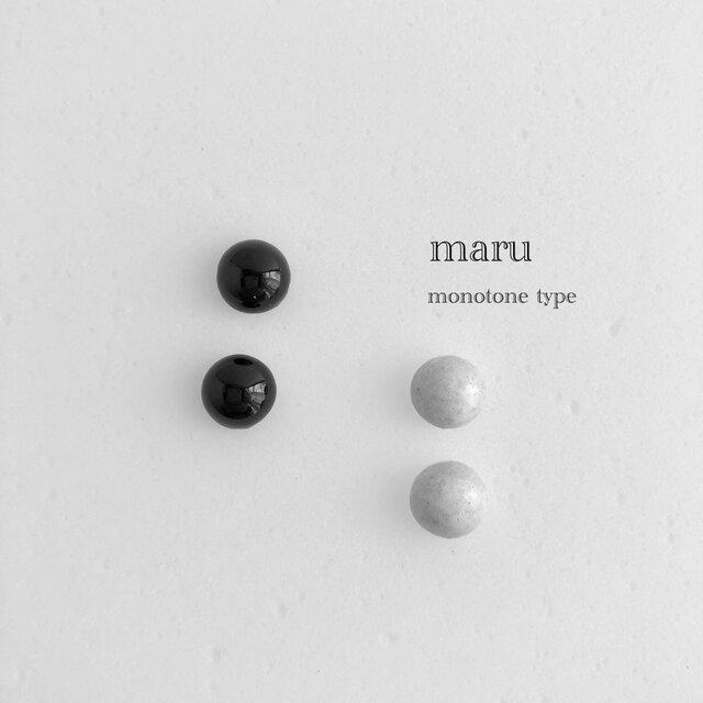 陶maru : ピアス/イヤリング monotoneの画像1枚目