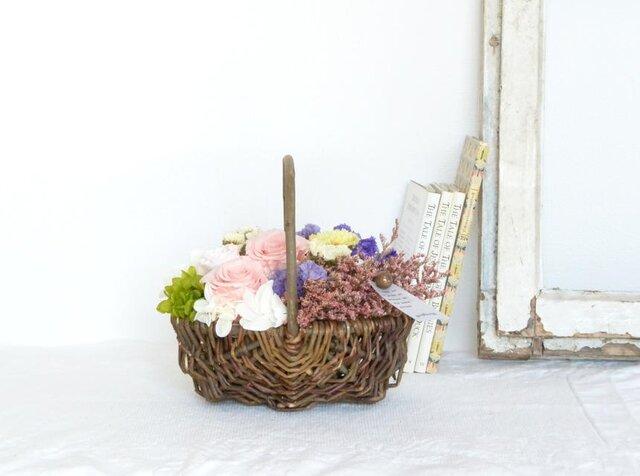 ジャルダン(バラとスターチス)☆5月11・12日着ご希望の方は、5月3日までにご注文下さい!の画像1枚目