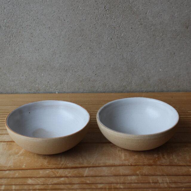 育てるウツワ 豆 小鉢 ペア セット(地器chiki)茶 陶土の画像1枚目