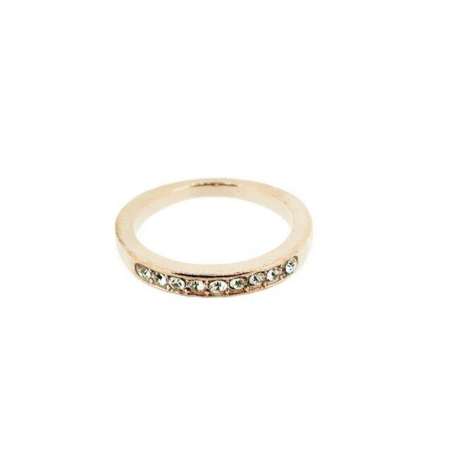 【刻印可能】ゴールド ハーフエタニティリング 指輪の画像1枚目