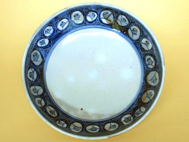 椿文染付平鉢の画像1枚目