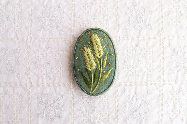 青い麦のブローチの画像1枚目