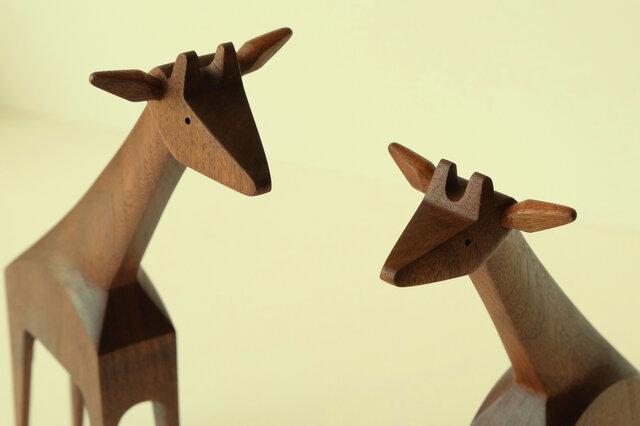 キリンさんのカップル ( ウォールナットジラフ×2)の画像1枚目