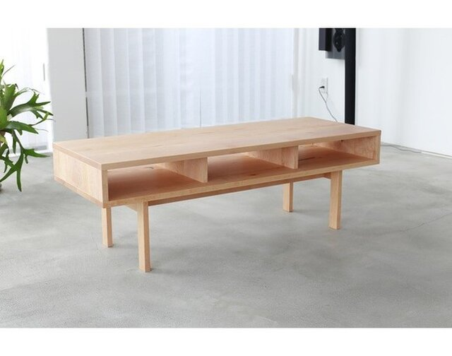 受注生産 職人手作り ローテーブル センターテーブル ローボード テレビ台 サイズオーダー可 家具 木目 天然木 収納の画像1枚目