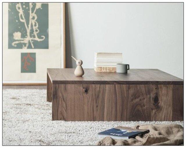 受注生産 職人手づくり センターテーブル コーヒーテーブル ソファーテーブル サイズオーダー可 家具 木工 家具 収納の画像1枚目