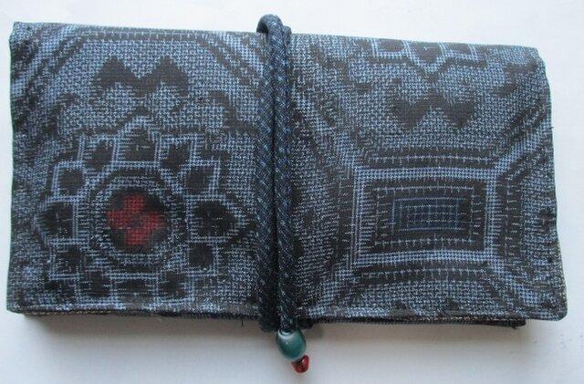 送料無料 大島紬で作った和風財布・ポーチ4220の画像1枚目