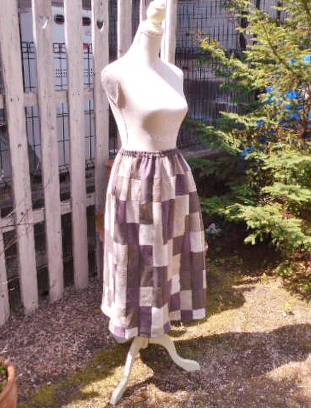 気ままにパッチワーク・ギャザースカートの画像1枚目