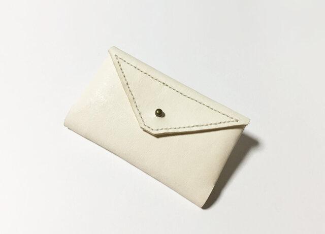 カードケース(生成り×黒×辛子)の画像1枚目