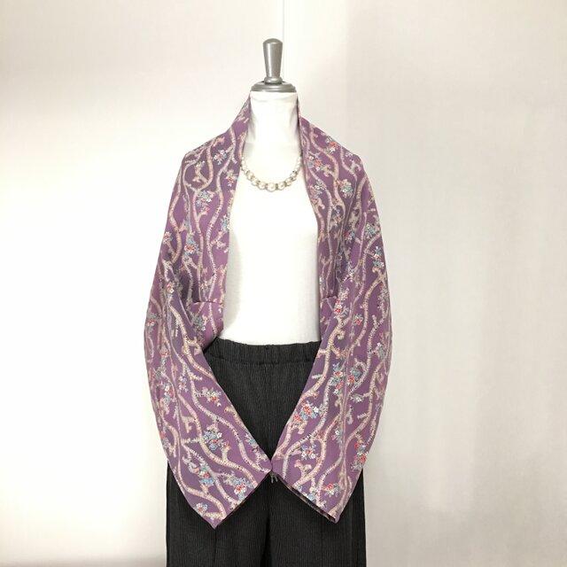 正絹反物 マーガレット ストール 長袖  羽織りもの 着物リメイク(16)の画像1枚目