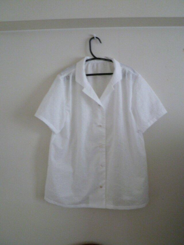 テーラード半袖シャツの画像1枚目