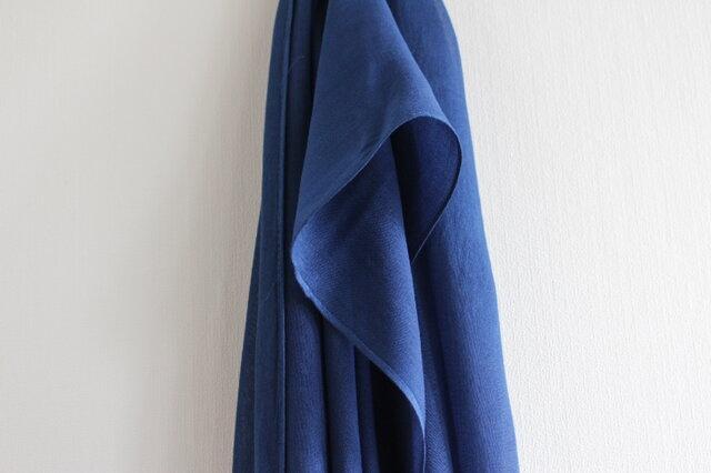 大人色 藍乾燥葉染め(青藍)ストールの画像1枚目