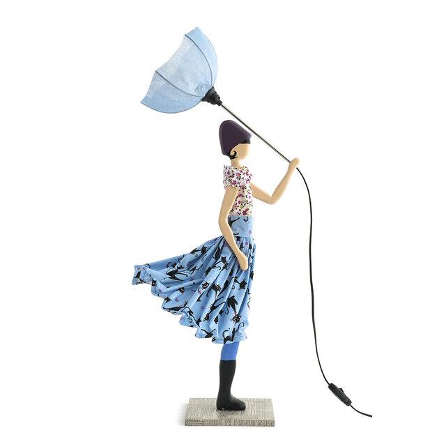 風のリトルガールおしゃれランプ June テーブルランプ 受注製作 送料無料の画像1枚目